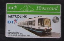 Phonecards BT Telephone card  Metrolink  #101